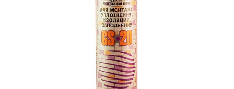 Однокомпонентная полиуретановая монтажная пена GLOBAL SEAL 20