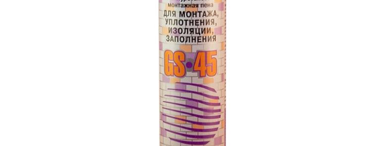 Однокомпонентная полиуретановая монтажная пена GLOBAL SEAL 45